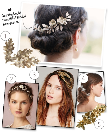 Leaf hairpieces | blog.theknot.com