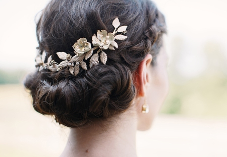Gold Lead Bridal Headpiece | Hot Metal Studio | blog.theknot.com